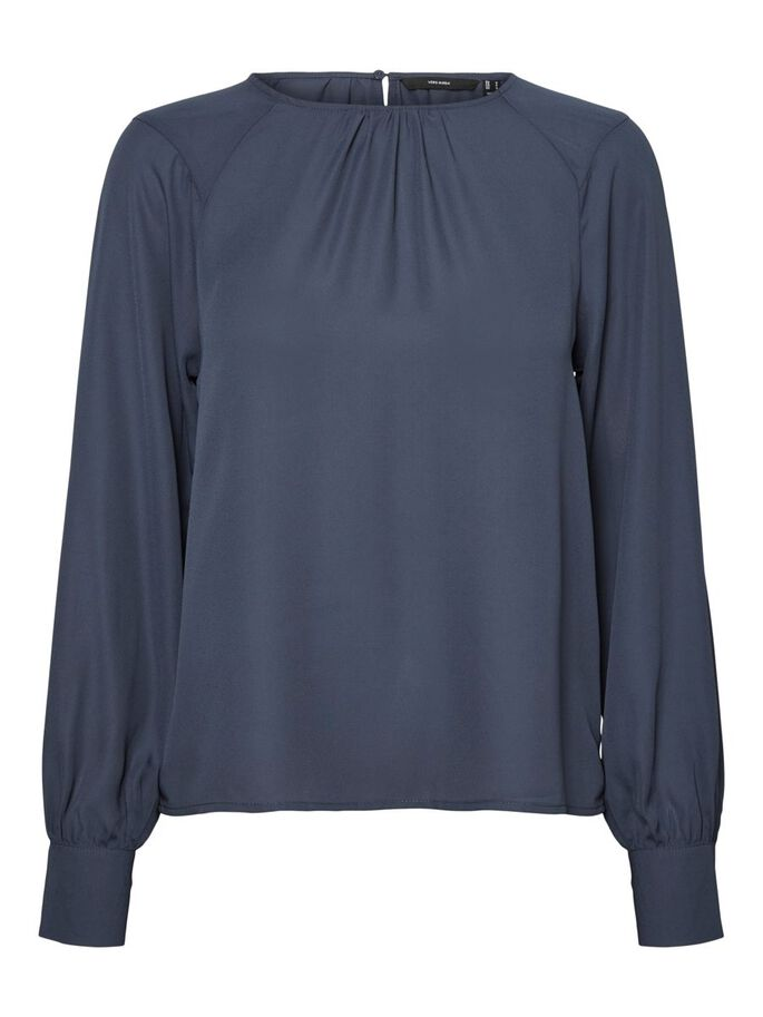 LONG SLEEVED BLOUSE, Ombre Blue, large