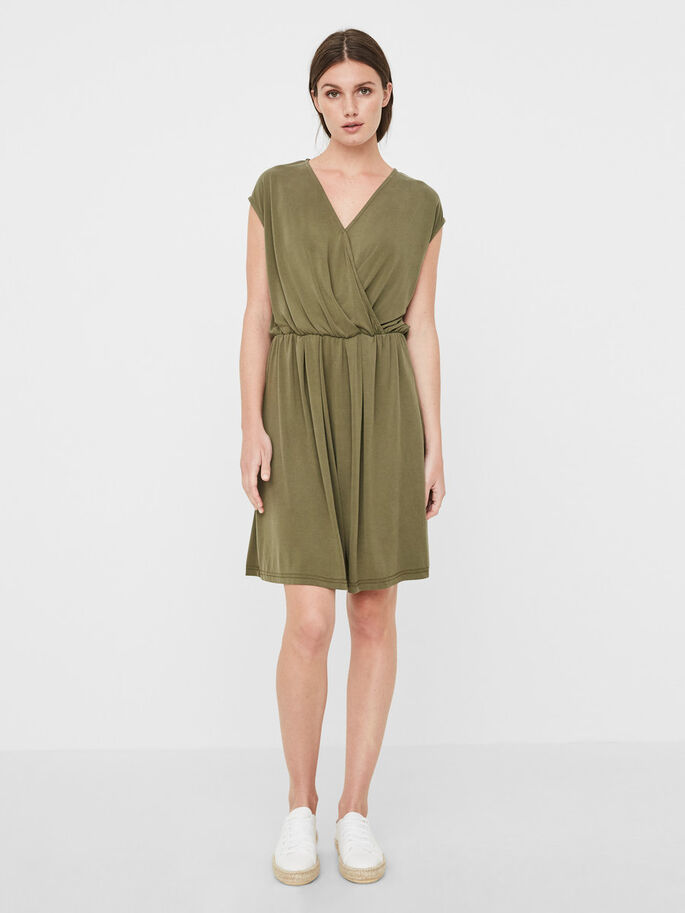 CASUAL ROBE SANS MANCHES, Ivy Green, large