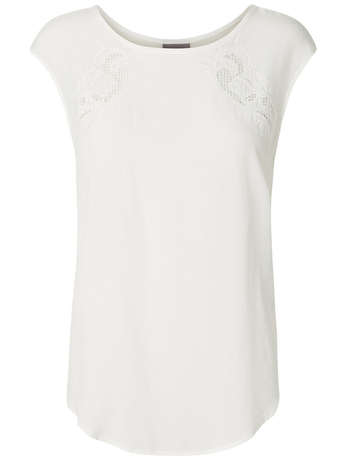 FEMININE SHORT SLEEVED TOP, Snow White, large