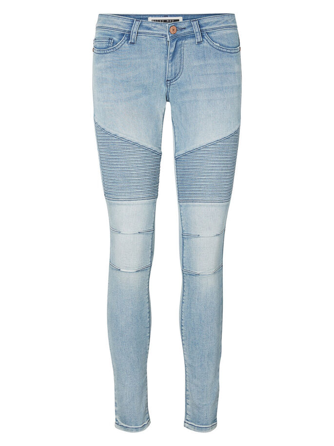 EVE LW BIKER SKINNY FIT JEANS, Light Blue Denim, large