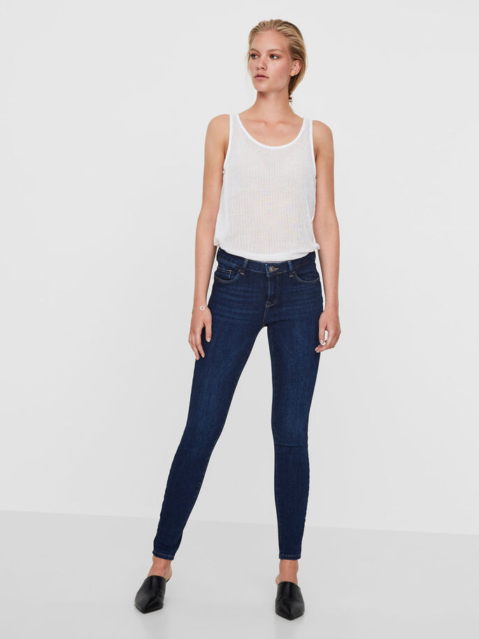 ICON NW PUSH UP JEANS, Dark Blue Denim, large