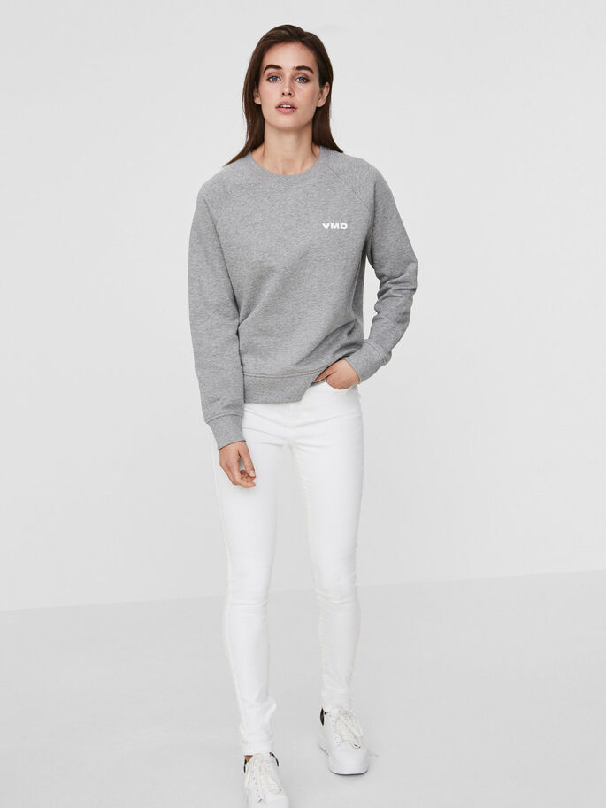 VMD SWEAT-SHIRT, Light Grey Melange, large