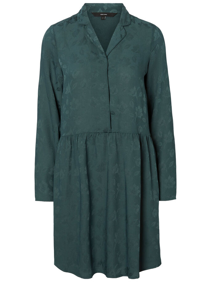 FEMININE LONG SLEEVED DRESS, Green Gables, large