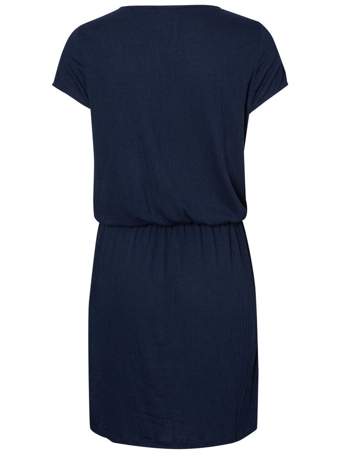 FEMININE SHORT SLEEVED DRESS, Navy Blazer, large