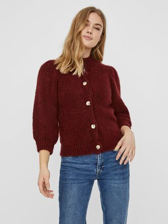 HIGH NECK KNITTED CARDIGAN
