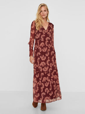 LONG SLEEVED MAXI DRESS