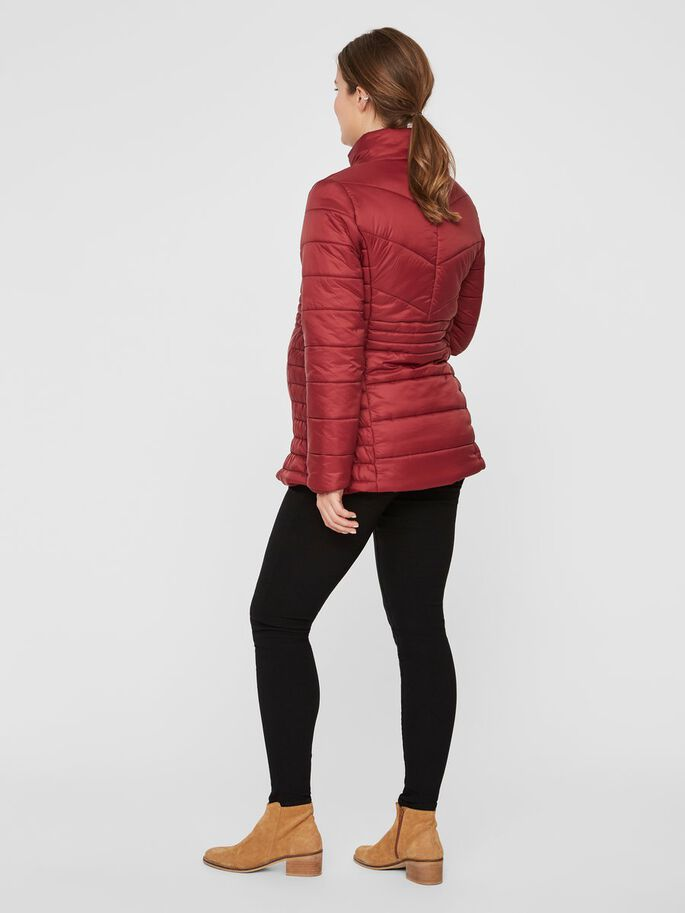 QUILTED LIGHT WEIGHT MATERNITY JACKET, Pomegranate, large
