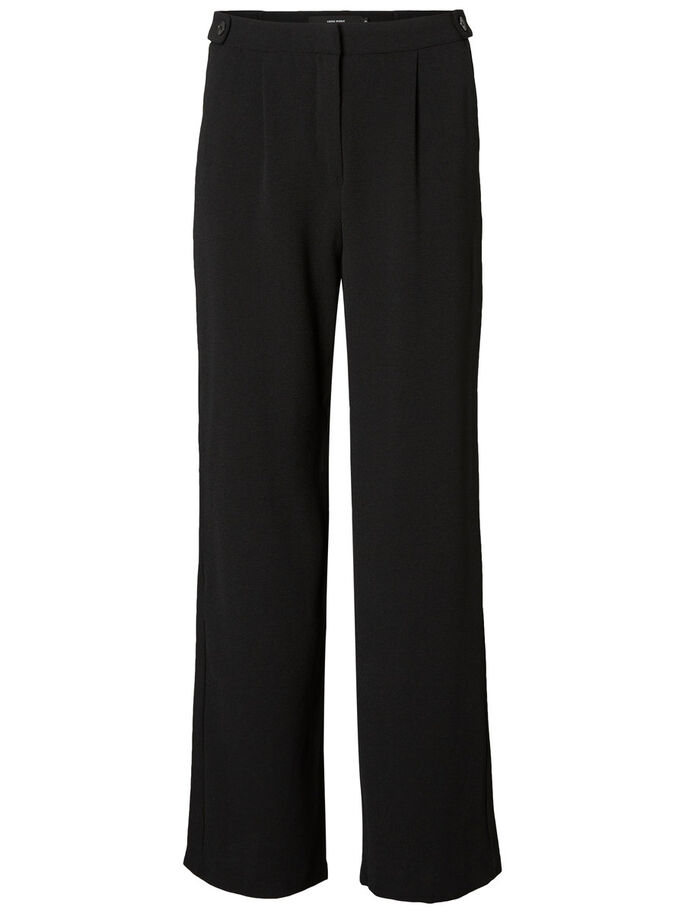 NW WIDE TROUSERS, Black, large