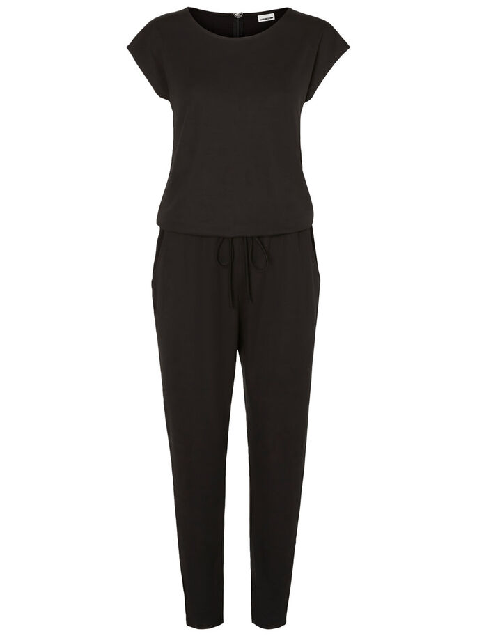 KORTE MOUW JUMPSUIT, Black, large