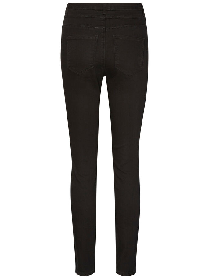 GALIA HW ANKLE SKINNY FIT JEANS, Black, large