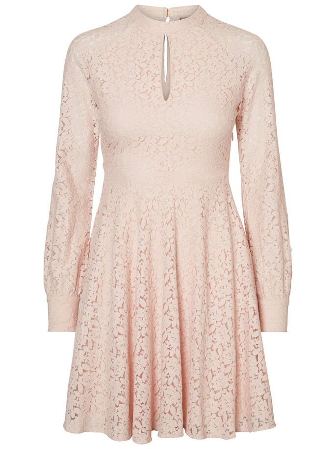 LACE DRESS, Peach Whip, large