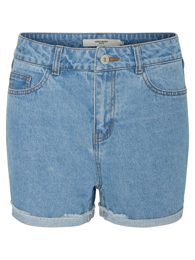 HW DENIM SHORTS, Light Blue Denim, large