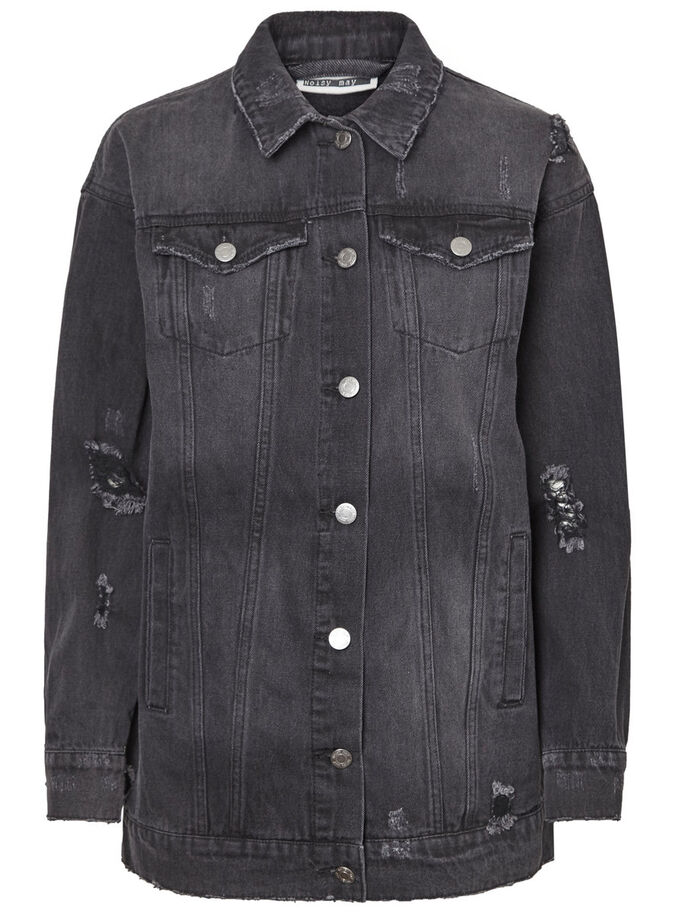 OVERSIZED DENIM JACKET, Black, large