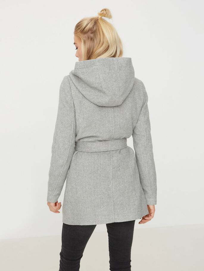 WOLL- JACKE, Light Grey Melange, large