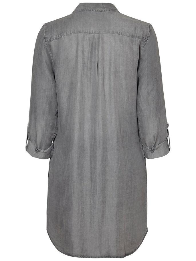 SHIRT- KLEID, Light Grey Denim, large