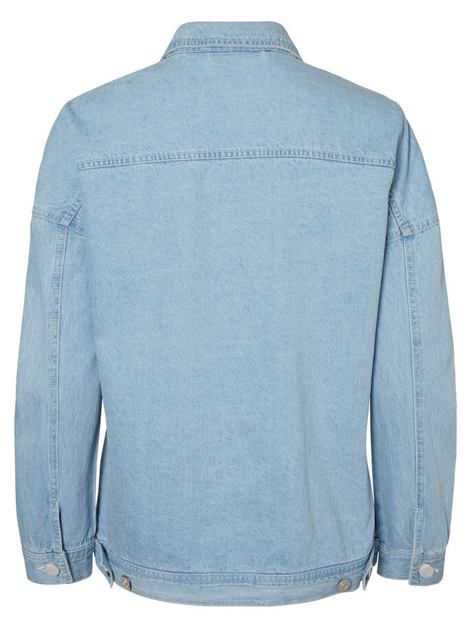 DETALJERT OLAJAKKE, Light Blue Denim, large