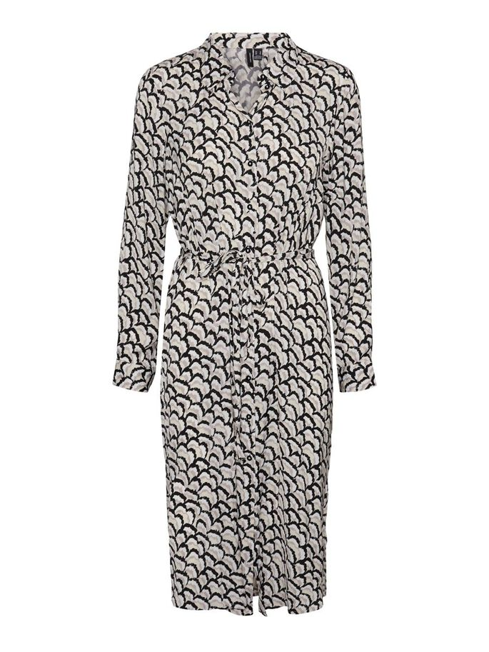 PRINTED MIDI DRESS, Ash, large