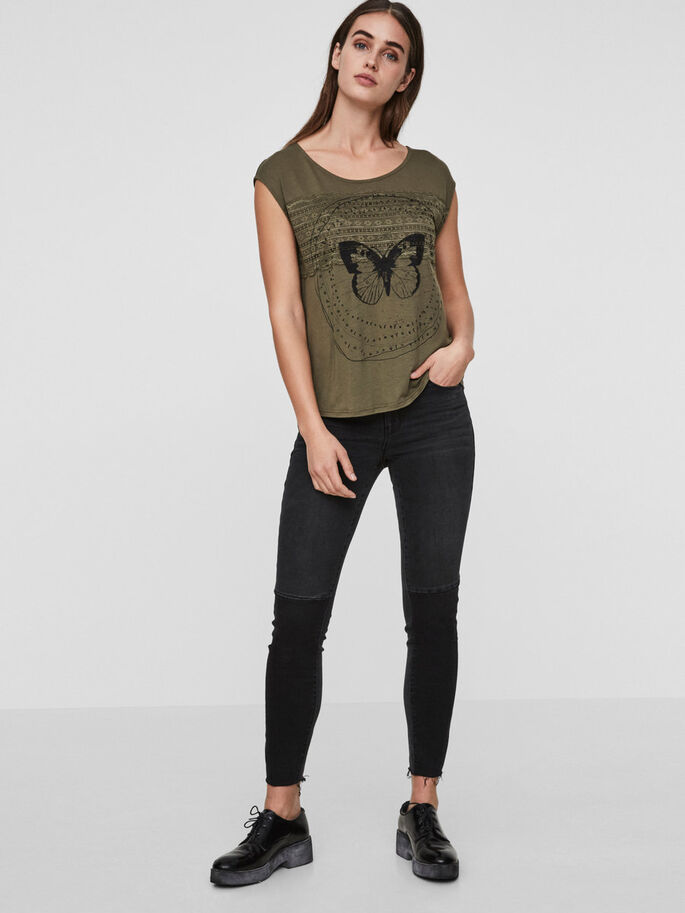 BEDRUCKTES T-SHIRT, Ivy Green, large
