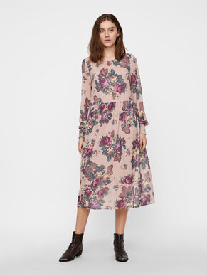 FLORAL LONG SLEEVED DRESS 6586a57f6f7