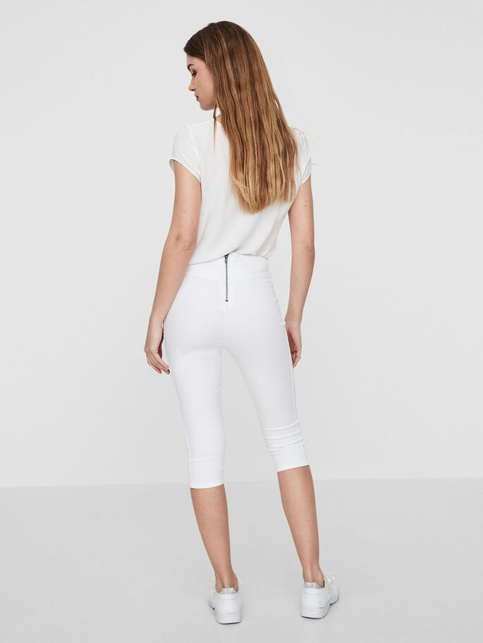 HIGH WAISTED CAPRIS, Bright White, large