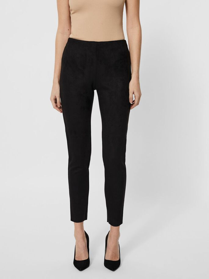 NORMAL WAIST LEGGINGS, Black, large