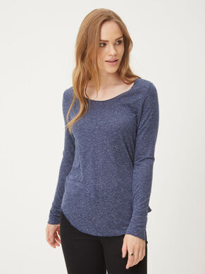 U-NECK LONG SLEEVED TOP