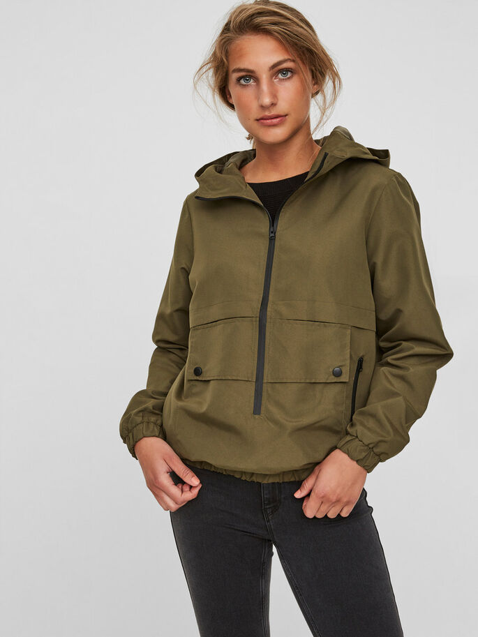 CASUAL ANORAK, Ivy Green, large
