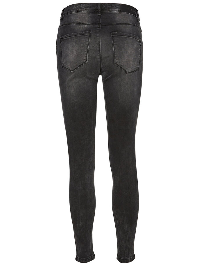 SEVEN NW ANKLE SKINNY FIT JEANS, Black, large