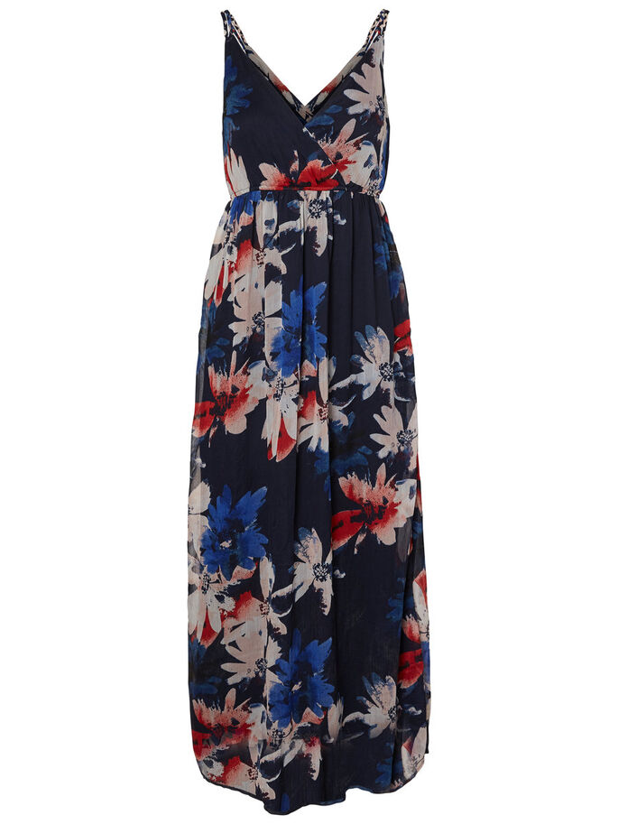 FEMININE MAXI DRESS, Navy Blazer, large