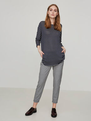 STRIPED 3/4 SLEEVED BLOUSE