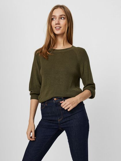 COL ROND PULL EN MAILLE