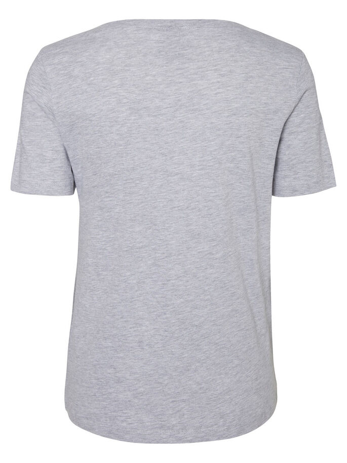 LÄSSIGES OBERTEIL MIT KURZEN ÄRMELN, Light Grey Melange, large