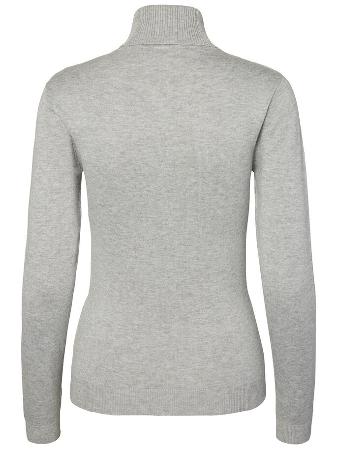 LANGÆRMET RULLEKRAVE, Light Grey Melange, large