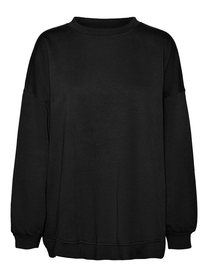 OVERSIZED SWEATSHIRT, Black, large