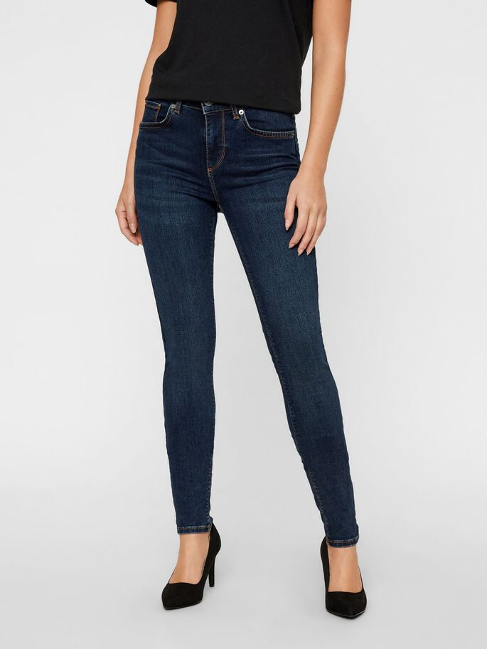 LUX NW SKINNY FIT JEANS, Dark Blue Denim, large