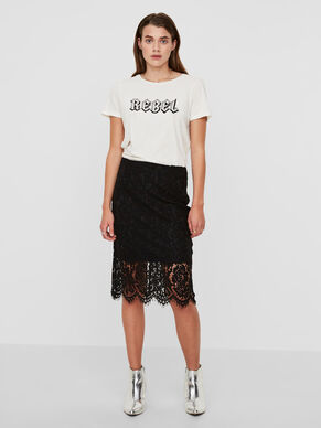 ABOVE THE KNEE LACE SKIRT