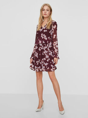 FLOWER LONG SLEEVED DRESS