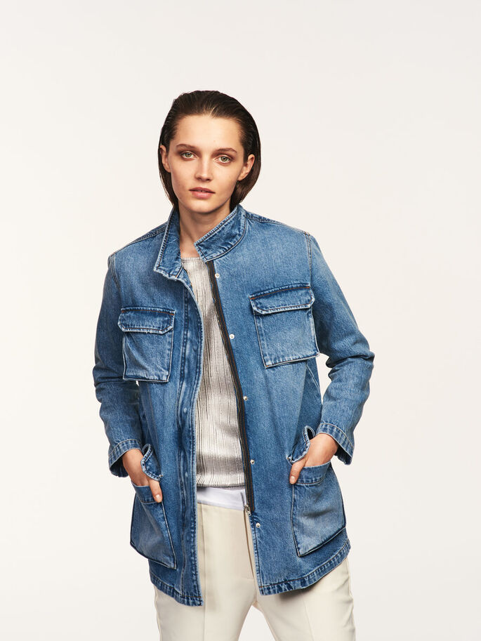 MM/VM DENIM JACKET, Light Blue Denim, large