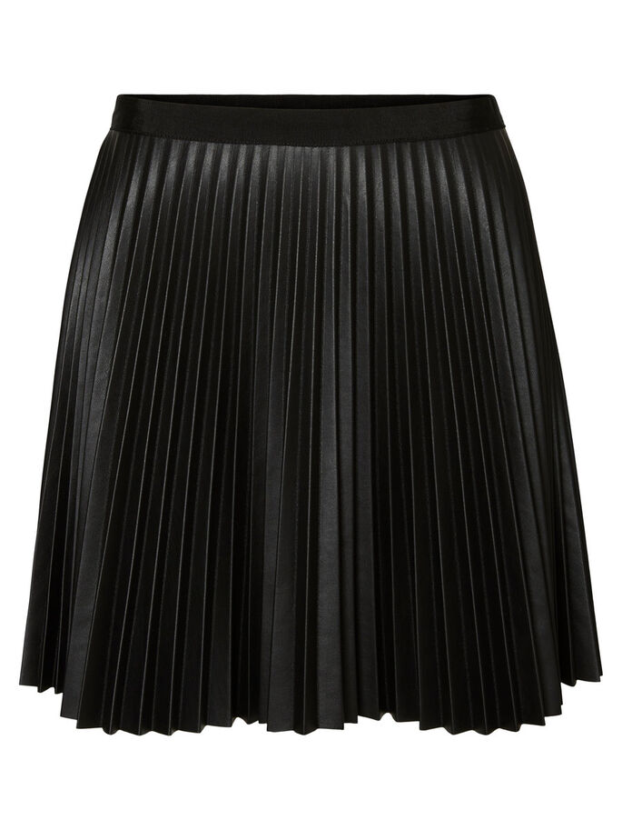 SHORT PLEATED SKIRT, Black, large