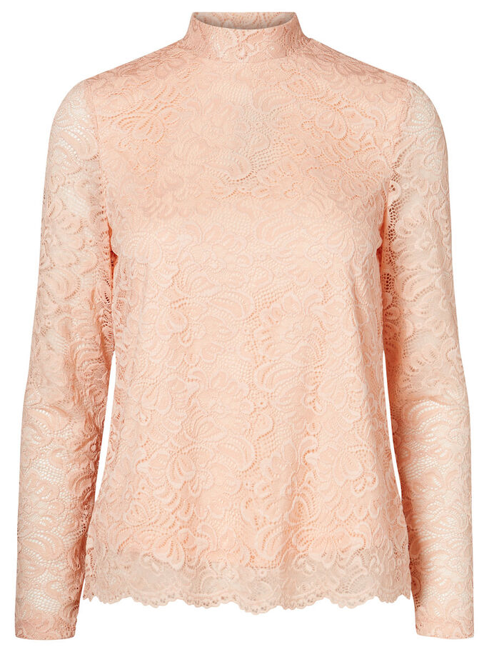 LACE LONG SLEEVED BLOUSE, Rose Cloud, large