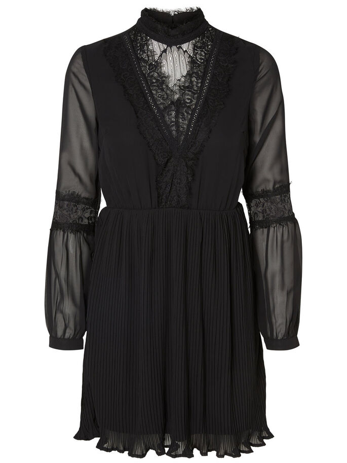 SPITZEN- KLEID, Black, large