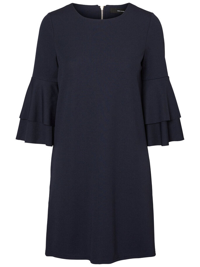 3/4 SLEEVED DRESS, Navy Blazer, large