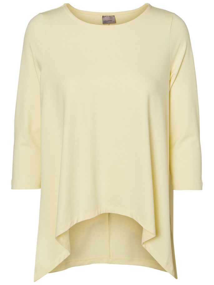 CASUAL 3/4 SLEEVED BLOUSE, Wax Yellow, large