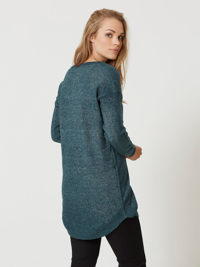 LONG SLEEVED KNITTED PULLOVER, Reflecting Pond, large