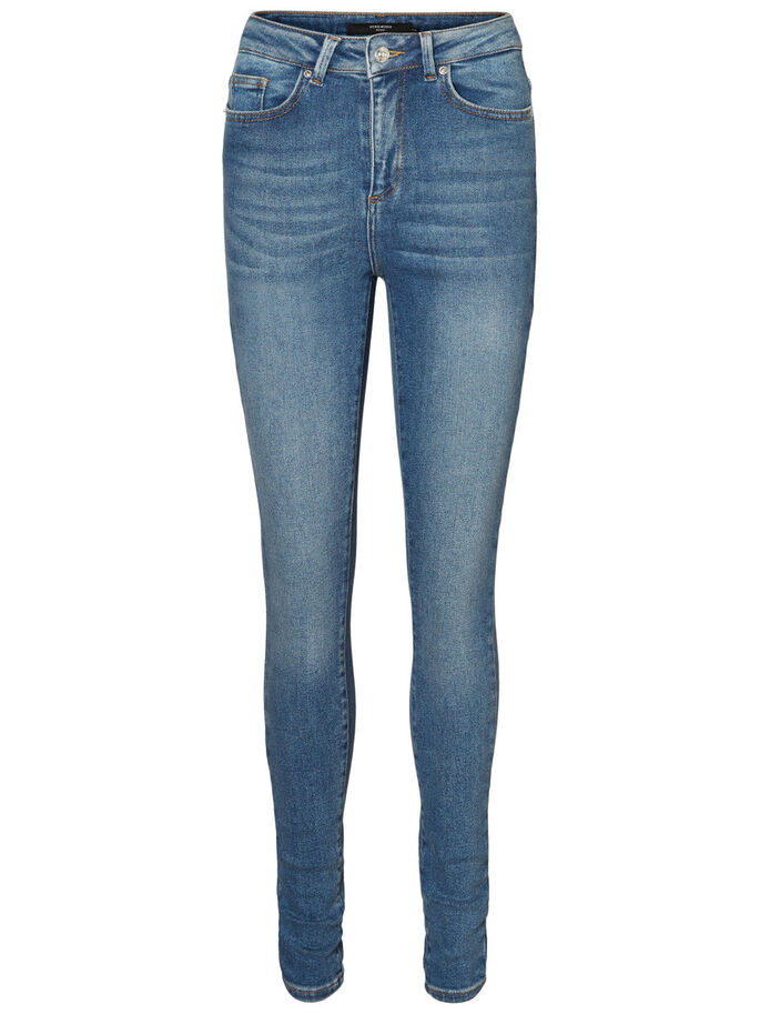 NINE HW SKINNY FIT JEANS, Medium Blue Denim, large