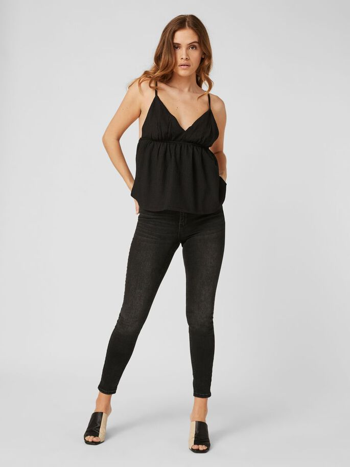 SINGLET TOP, Black, large