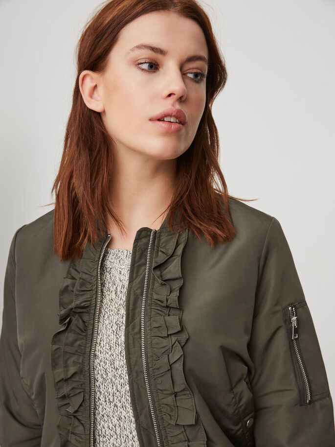 FEMININE BOMBER JACKET, Peat, large