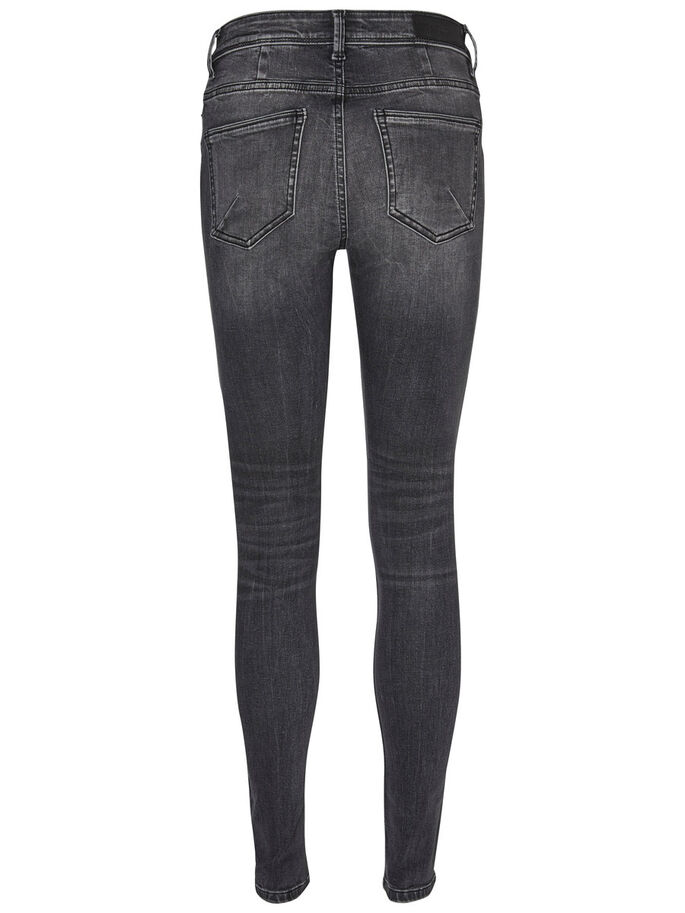 SEVEN NW SKINNY FIT JEANS, Black, large