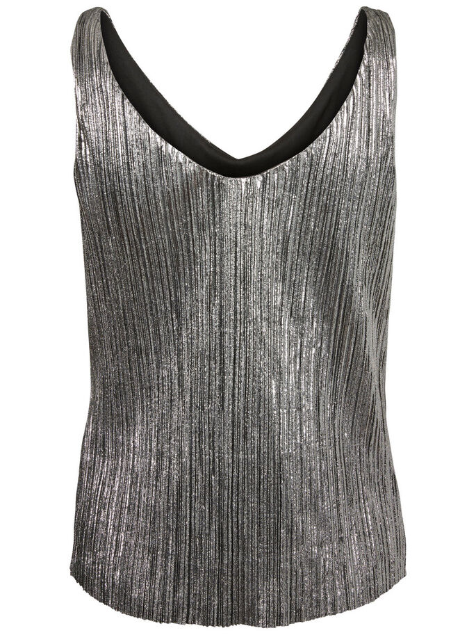 FEMININE SLEEVELESS TOP, Silver, large