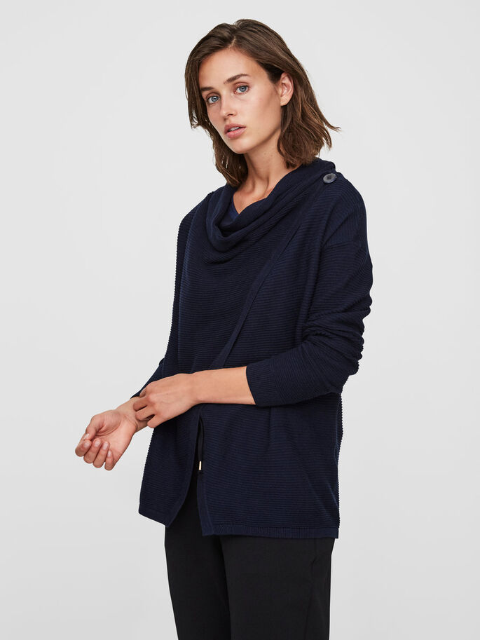 CASUAL CARDIGAN, Navy Blazer, large
